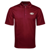 Maroon Mini Stripe Polo-Eagle