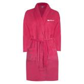 Ladies Pink Raspberry Plush Microfleece Shawl Collar Robe-Faith Eagles