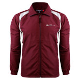 Colorblock Maroon/White Wind Jacket-Faith Eagles