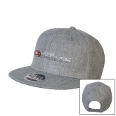 Heather Grey Wool Blend Flat Bill Snapback Hat-Faith Eagles