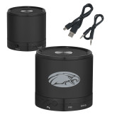 Wireless HD Bluetooth Black Round Speaker-Eagle Engraved
