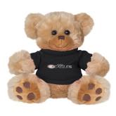 Plush Big Paw 8 1/2 inch Brown Bear w/Black Shirt-Faith Eagles