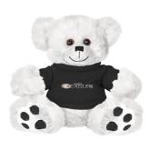 Plush Big Paw 8 1/2 inch White Bear w/Black Shirt-Faith Eagles