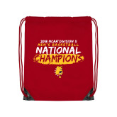 Red Drawstring Backpack-2018 NCAA Mens Basketball National Champions - Brush