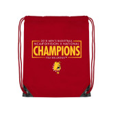 Red Drawstring Backpack-2018 NCAA Mens Basketball National Champions - Box