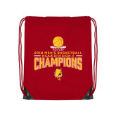 Red Drawstring Backpack-2018 NCAA Mens Basketball National Champions - Stacked