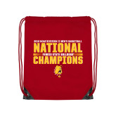 Red Drawstring Backpack-2018 NCAA Mens Basketball National Champions - Bar