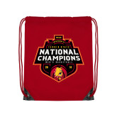 Red Drawstring Backpack-2018 NCAA Mens Basketball National Champions