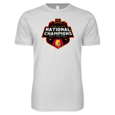 Next Level SoftStyle White T Shirt-2018 NCAA Mens Basketball National Champions