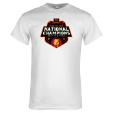 White T Shirt-2018 NCAA Mens Basketball National Champions