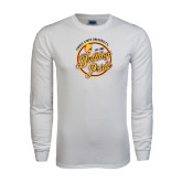 White Long Sleeve T Shirt-Bulldog Pride
