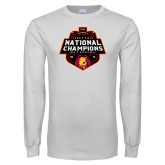 White Long Sleeve T Shirt-2018 NCAA Mens Basketball National Champions