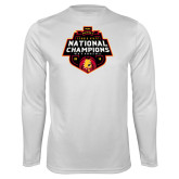 Performance White Longsleeve Shirt-2018 NCAA Mens Basketball National Champions