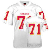 Replica White Adult Football Jersey-#71