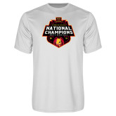 Performance White Tee-2018 NCAA Mens Basketball National Champions