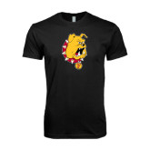 Next Level SoftStyle Black T Shirt-Bulldog Head