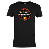 Ladies Black T Shirt-2018 NCAA Mens Basketball National Champions