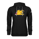 Adidas Climawarm Black Team Issue Hoodie-Bulldog Head Peeking