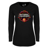 Ladies Syntrel Performance Black Longsleeve Shirt-2018 NCAA Mens Basketball National Champions