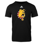 Adidas Black Logo T Shirt-Bulldog Head