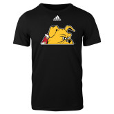 Adidas Black Logo T Shirt-Bulldog Head Peeking