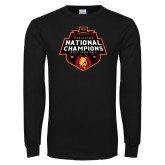 Black Long Sleeve T Shirt-2018 NCAA Mens Basketball National Champions