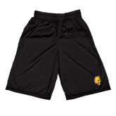 Russell Performance Black 9 Inch Short w/Pockets-Bulldog Head