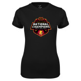 Ladies Syntrel Performance Black Tee-2018 NCAA Mens Basketball National Champions