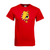 Red T Shirt-Bulldog Head