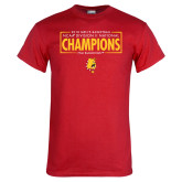 Red T Shirt-2018 NCAA Mens Basketball National Champions - Box