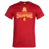 Red T Shirt-2018 NCAA Mens Basketball National Champions - Stacked