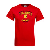 Red T Shirt-Bulldogs Est. 1884 Arched