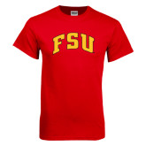 Red T Shirt-Arched FSU