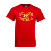 Red T Shirt-Bulldog Football Arched