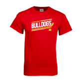 Red T Shirt-Bulldogs Hockey Slanted
