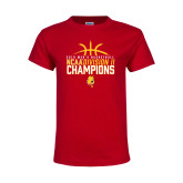 Youth Red T Shirt-2018 NCAA Mens Basketball National Champions - Basketball