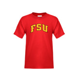 Youth Red T Shirt-Arched FSU