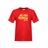 Youth Red T Shirt-Bulldogs Est. 1884 Stacked