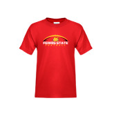Youth Red T Shirt-Ferris State Football Horizontal