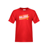 Youth Red T Shirt-Bulldogs Hockey Slanted