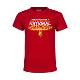 Youth Red T Shirt-2018 NCAA Mens Basketball National Champions - Brush