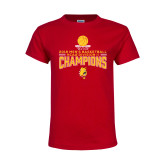 Youth Red T Shirt-2018 NCAA Mens Basketball National Champions - Stacked