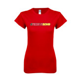 Next Level Ladies SoftStyle Junior Fitted Red Tee-#FerrisStrong