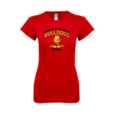 Next Level Ladies SoftStyle Junior Fitted Red Tee-Bulldogs Est. 1884 Arched