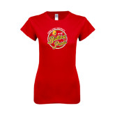 Next Level Ladies SoftStyle Junior Fitted Red Tee-Bulldog Pride