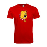 SoftStyle Red T Shirt-Bulldog Head
