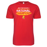 Next Level SoftStyle Red T Shirt-2018 NCAA Mens Basketball National Champions - Brush