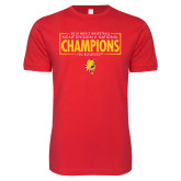 Next Level SoftStyle Red T Shirt-2018 NCAA Mens Basketball National Champions - Box