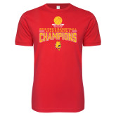 Next Level SoftStyle Red T Shirt-2018 NCAA Mens Basketball National Champions - Stacked