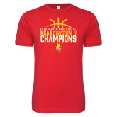 Next Level SoftStyle Red T Shirt-2018 NCAA Mens Basketball National Champions - Basketball